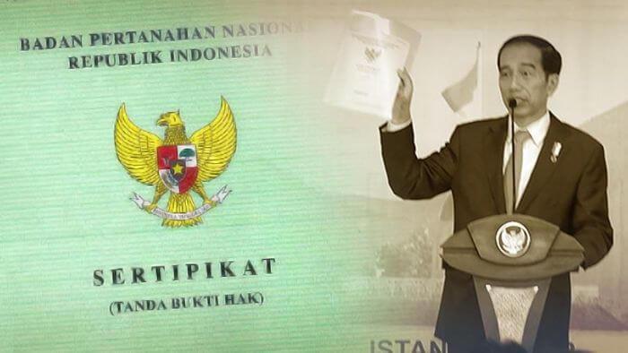 Jokowi Bagi-bagi Sertifikat Tanah